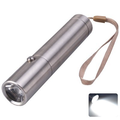 Comple Singfire Sf-345 Torch Cree Xp-E R3 3 Modes 180 Lumens 18650 / Aaa Led White Stainless Steel Flashlight (Silver)