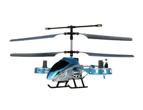 HC BN787 Alloy 4-Channel RC Helicopter with Auto Play Function (Blue) + Worldwide free shiping