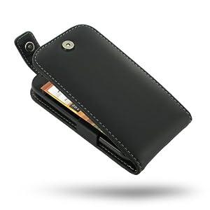 PDair Housse en cuir clapet ouvert haut etui pour HTC One SV Noir