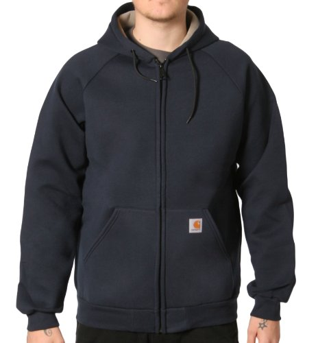 Carhartt 100465 Car-Lux Sweatshirt Navy Blue Mens Hooded Top