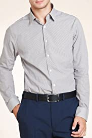 Limited Collection Pure Cotton Slim Fit Heritage Check Shirt [T11-0572-S]