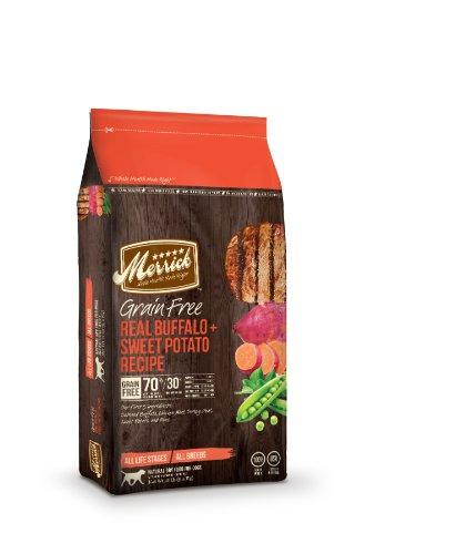 Merrick Grain Free 12-Pound Real Buffalo And Sweet Potato Dog Food, 1 Bag