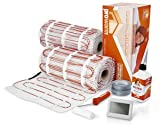 Prowarm Electric Underfloor Heating 200W Mat Kit 14.0M2 -Includes ProWarm Touchscreen White Thermostat