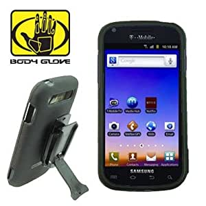 Body Glove Samsung Galaxy S BLAZE 4g T-Mobile Hard Shield Shell Cover Snap On Case With Kickstand and Belt Clip - Black
