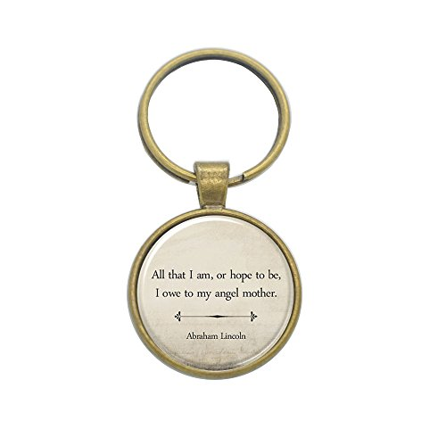 Rose Home Inspirational Quote key chain Mother's Day Gift keyring Abraham Lincoln Mom Quote glass photo Cabochon keyring E0351 (Bulldog Mom Keychain compare prices)