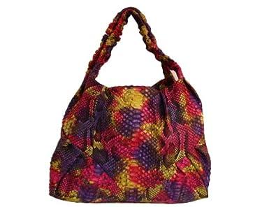 Braschi Women's Handbag Genuine Python Leather Primavera