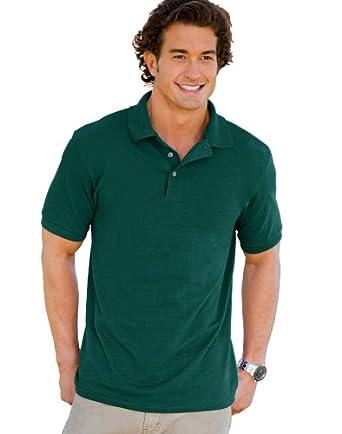 Hanes Men's 7 oz. ComfortSoft� Cotton Piqu� Polo - DEEP FOREST - S