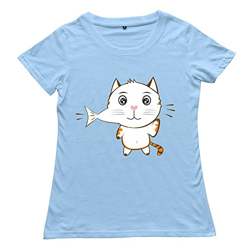 Lady Do Eat Fish Custom Nice Skyblue T-Shirt By Rrg2G