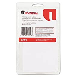 UNIVERSAL OFFICE PRODUCTS Self-Adhesive Postage Meter Labels, 1-1/2w x 2-3/4 or 5-1/2, WE, 160-Sheet/Pack (37103)