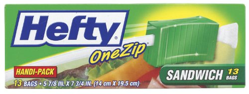 Hefty One Zip Sandwich Bags (013700841156)