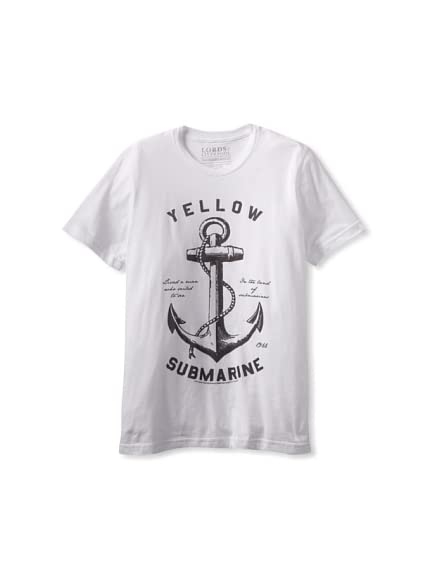 Lords of Liverpool Men's Yellow Submarine Anchor Pullover Hoodie