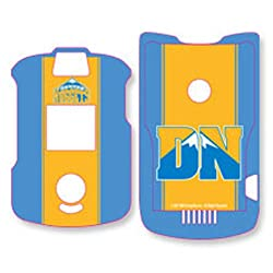 Official NBA Team Logo Motorola RAZR Snap on Shield Cover for - V3, V3c, V3i, V3m - Denver Nuggets