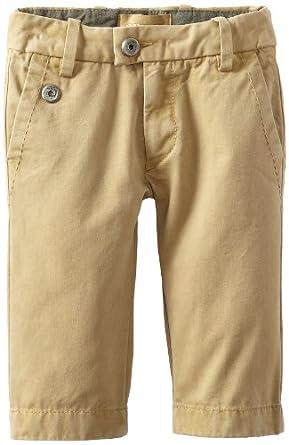 Diesel Baby-boys Infant Piddyb Garment Dyed Cotton Pant, Khaki, 6 Months