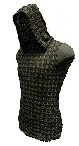 Shrine Gothic Shadow Techno Rave Skater Hoodie Shirt (L)