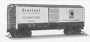Micro Trains N 20256: 40' Standard Box Car, Single Door, Baltimore & Ohio B&O #466096 (N Scale)