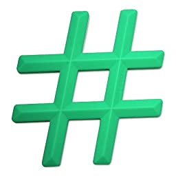 Little Standout Silicone Hashtag Teething Toy - Green