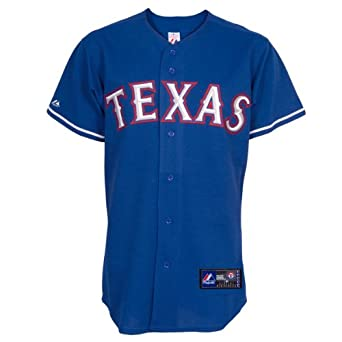 MLB Texas Rangers Alternate Replica Jersey, Blue by Majestic