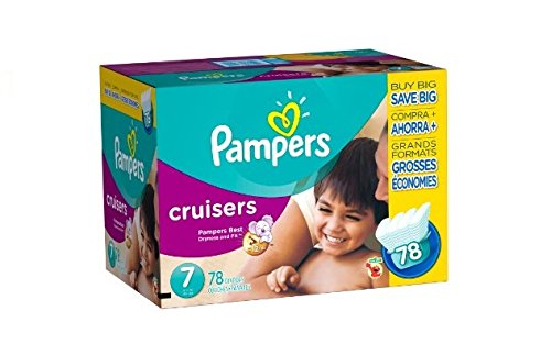 Pampers Cruisers Diaper Super Economy Pack - Sz 7 - 78ct