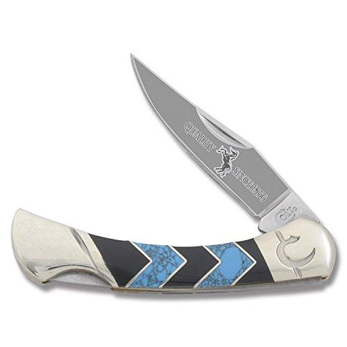 Colt Peak Lockback Knife, Turquoise