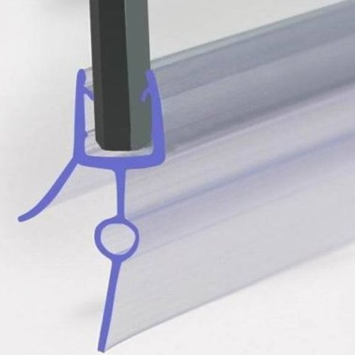 Rubber Plastic Bath Shower Screen Seal Strip For 4-6mm Glass Door Curved Straight 16-23mm Gap