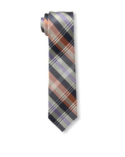 Ben Sherman Men's Preppy Plaid Tie, Orange