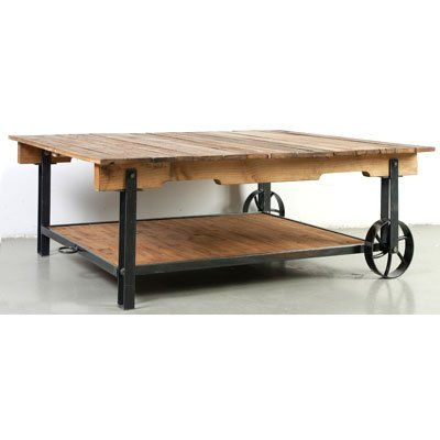 Buy low price rustic wood and glass coffee table cart with portable wheels b009d4wel2 coffee Eco friendly coffee table