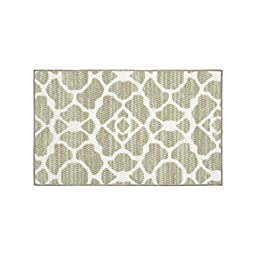 Structures Kohl Textured Printed Accent Rug, Beige/White 18 x 30\