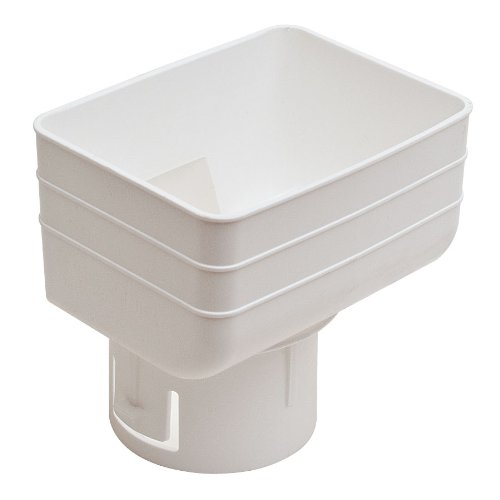 Universal Downspout To Drain Pipe Tile Adapter White