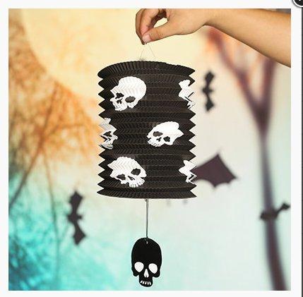 FEI&S Skeleton hand Halloween decorations pumpkin Halloween supplies colorful pumpkin folded paper Lantern string lights,Skull