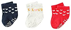 Wonderkids 3 Piece Baby Socks ( 0 - 3 Months)