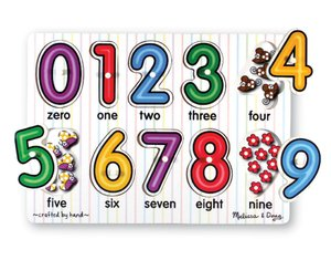 Picture of Fun Melissa & Doug 3273 See-Inside Numbers Peg (B004FWGPFI) (Pegged Puzzles)