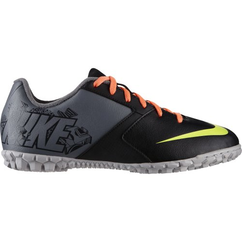 Nike Kids Jr Bomba II Black/Volt/Atomic Orange Soccer Cleat