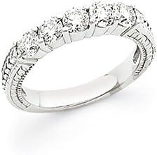 Ann Harrington Jewelry 14k White Gold 1 Ct Tw 5 Stone Diamond Antique Style Anniversary Band