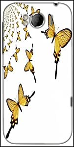 Snoogg Kaleidoscopic Butterflies Designer Protective Back Case Cover For HTC Sensation Xl