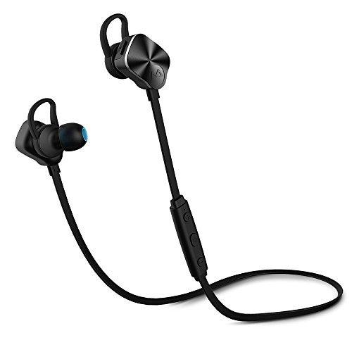 [nueva versión] auriculares in-ear estéreo auricular Bluetooth inalámbrico Sport Mpow Bluetooth 4.1, almohadillas resistentes a sudor con cancellation del ruido, multifunción para iPhone se, 6S, 6plus, Samsung Galaxy S6EDGE, etc., negro