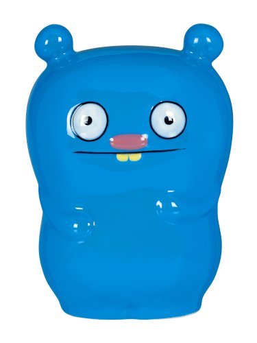Uglydoll  5-1/4-Inch by 4-Inch by 3-1/2-Inch Trunko Ceramic Coin Bank Collectible, Blue - 1