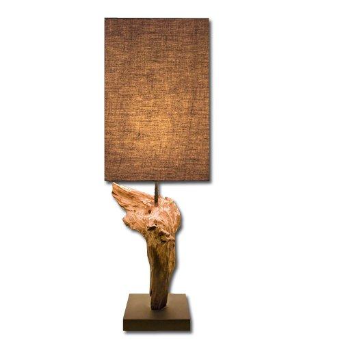 Lume in legno naturale lampada da tavolo da camera studio 15x30 cm