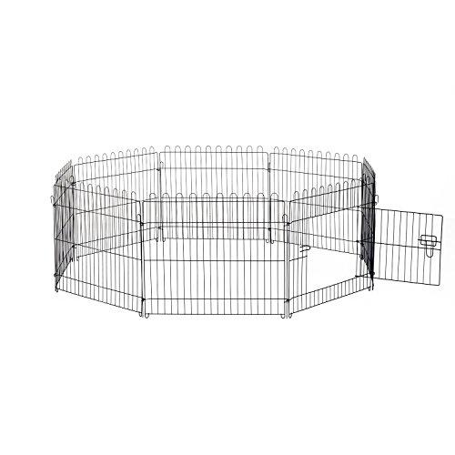 Outsunny - Recinzione per cuccioli animali Cani - Box per animali - Nero 71x91cm