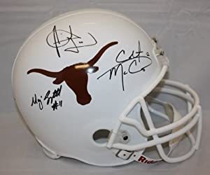 MAJOR APPLEWHITE, COLT MCCOY, AND VINCE YOUNG TEXAS LONGHORNS COMBO AUTOGRAPHED... by TheJerseySourceAutographs