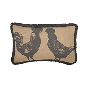 Thomas Paul JT- 0243-CHR Jute Collection Polish Chickens Pillow, 12 by 20-Inch