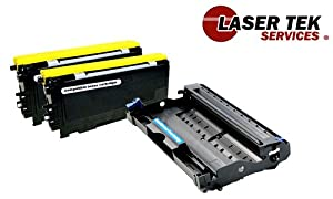 Laser Tek Services ® 2 Pack Compatible Cartridge for Brother TN360 & Compatible DR360 - 3 Pack total (TN-360 DR-360)