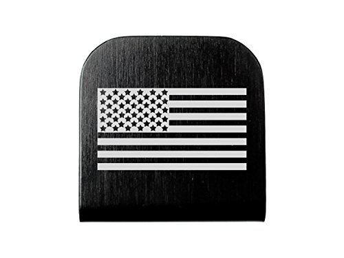 Aluminum Baseball ID Tag Hat Clip Black Custom Laser Engraved: US Flag Inverse Alternate By NDZ Performance (Alternate Us Flag compare prices)