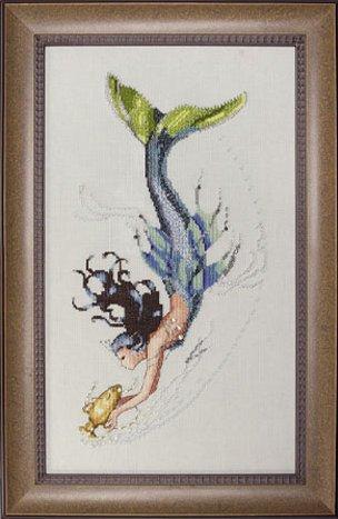 cross stitch pattern of a mermaid | Cross Stitching Art