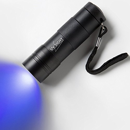 Blacklight UV Flashlight Handheld Urine Stain Detector. The Best 12 LED Ultra Violet Flashlight to Find Stains on Carpet, Rugs or Furniture Material. 3 x AAA Batteries Included & Inserted