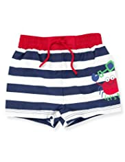 Pure Cotton Stripe Crab Shorts [T78-8010X-S]
