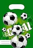 Football Fußball 6 Geschenktüten grün Kindergeburtstag