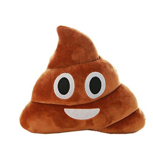 Mini FEITONG Netter, Saliva, Cool, Gefletschten Zähnen, Emoji Emoticon Kissen Poo-Form Kissen Puppe Spielzeug Kopfkissen Plüschtiere (Netter)