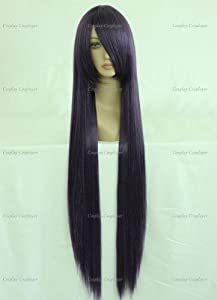 CosplayerWorld Cosplay Wigs Sailor Moon Hino Rei Wig For Convention Party Show Dark Purple100cm 380g WIG-018O4