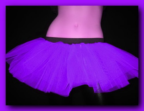 Purple Mini Tutu Rave Punk Dance Party Costume One Size