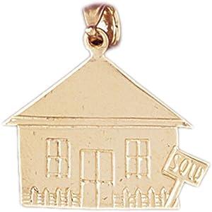 CleverEve's 14k Gold Charm Houses 2.1 - Gram(s)